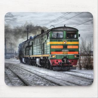 Regalos de la locomotora diesel para los amantes tapete de ratones