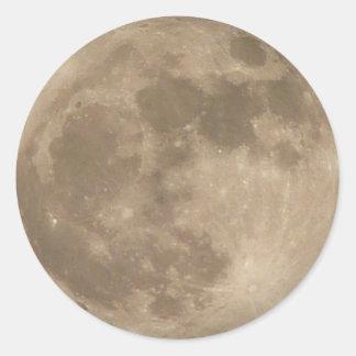 Regalos de la luna de la diversión de los pegatina redonda