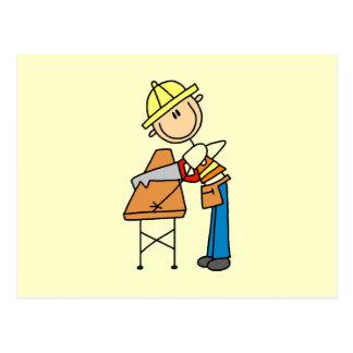 Regalos de la madera de construcción del Sawing de Postal
