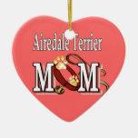Regalos de la mamá de Airedale Terrier Adorno De Navidad