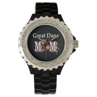Regalos de la mamá de great dane relojes de pulsera