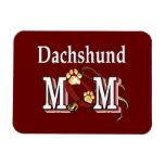Regalos de la mamá del Dachshund Imán Flexible