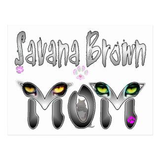 Regalos de la mamá del gato de Savana Brown Postales