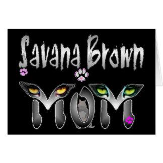 Regalos de la mamá del gato de Savana Brown Tarjeta De Felicitación