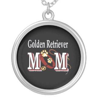 Regalos de la mamá del golden retriever colgante redondo