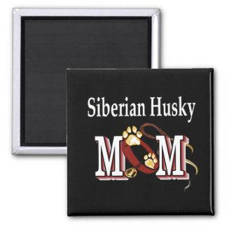 Regalos de la mamá del husky siberiano imán cuadrado