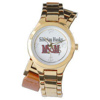 Regalos de la mamá del husky siberiano relojes de pulsera