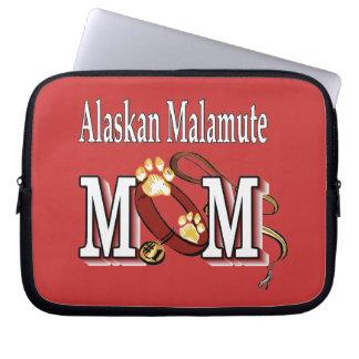 Regalos de la mamá del Malamute de Alaska Mangas Portátiles