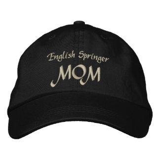 Regalos de la mamá del saltador inglés gorra de beisbol