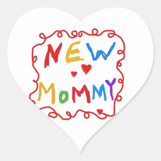 Regalos de la mamá del texto de los colores pegatinas corazon personalizadas