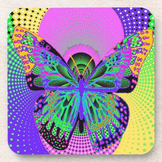 Regalos de la mariposa del arte moderno por posavaso