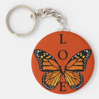 Regalos de la mariposa del llavero del amor de la