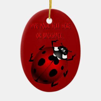 Regalos de la mariquita del recuerdo del insecto d ornamento de navidad