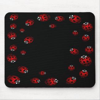 Regalos de la mariquita del recuerdo del insecto d mousepad