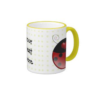 Regalos de la mariquita tazas de café
