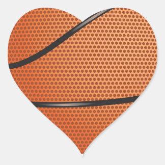 Regalos de la mirada del baloncesto para las fans pegatina en forma de corazón