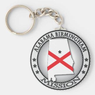 Regalos de la misión de Alabama Birmingham LDS Llaveros Personalizados