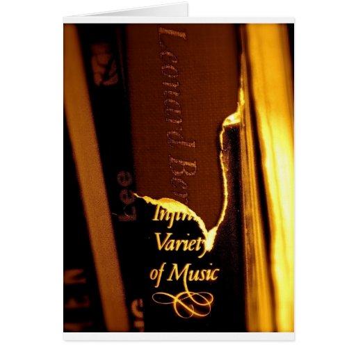 Regalos de la música clásica y tarjetas de la músi