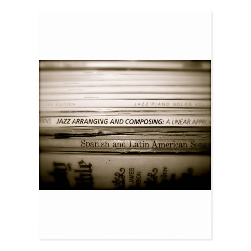 Regalos de la música de jazz postales
