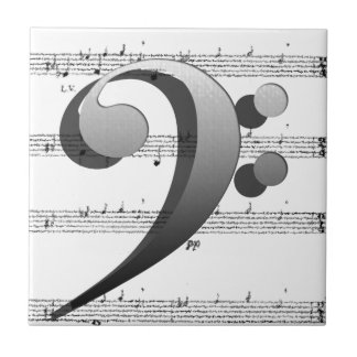 Regalos de la música del Clef de la música de la d Azulejos