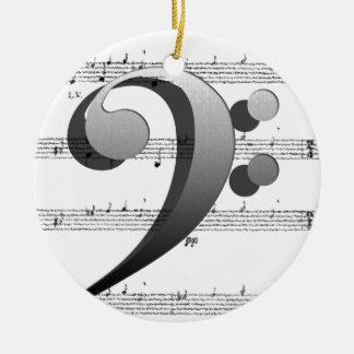 Regalos de la música del Clef de la música de la d Ornamente De Reyes