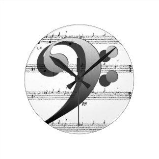 Regalos de la música del Clef de la música de la d Reloj