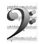 Regalos de la música del Clef de la música de la d Tarjeta Postal