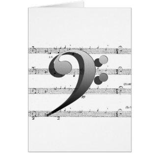 Regalos de la música del Clef de la música de la Tarjeta De Felicitación