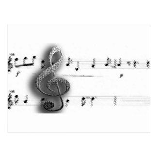 Regalos de la música del Clef de la música de la Postal