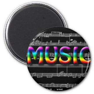 ¡Regalos de la música! Imán Redondo 5 Cm