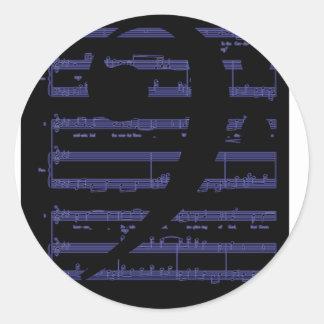 Regalos de la música para los profesores y los edu pegatinas redondas