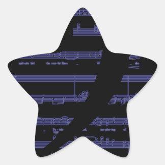 Regalos de la música para los profesores y los pegatina en forma de estrella
