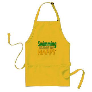 Regalos de la natación para los nadadores delantal