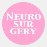 Regalos de la neurocirugía etiqueta redonda
