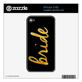 Regalos de la novia skin para el iPhone 4