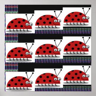 REGALOS de la opción de señora Bug Insect Colorful Poster