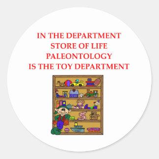 Regalos de la paleontología pegatina redonda
