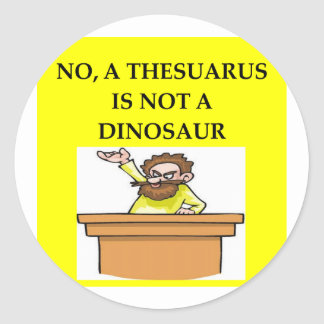 Regalos de la paleontología etiquetas redondas