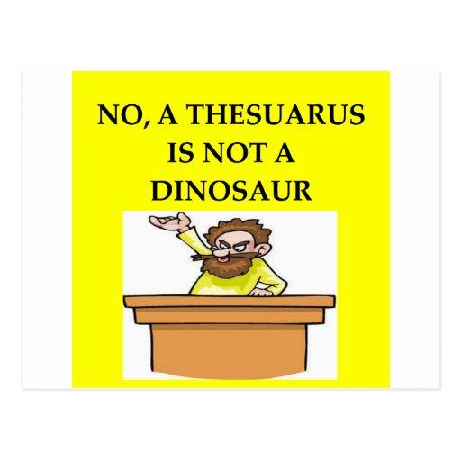 Regalos de la paleontología tarjeta postal