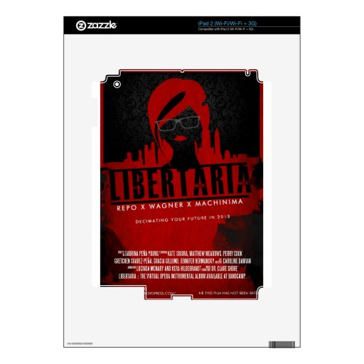 Regalos de la película de Libertaria Skins Para eliPad 2