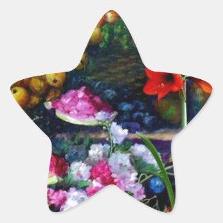 Regalos de la pintura de la cosecha de la fruta y pegatina en forma de estrella