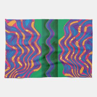 Regalos de la plantilla del calor de la onda de la toallas de mano