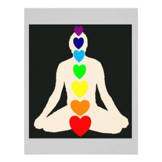 Regalos de la posición de Lotus de la yoga de Chak Plantillas De Membrete
