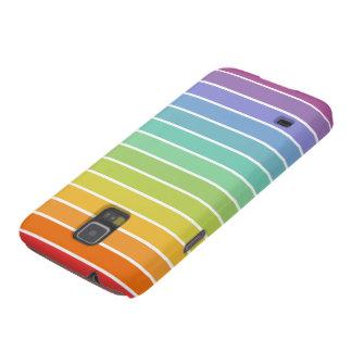 Regalos de la raya del arco iris del Doberman Fundas Para Galaxy S5