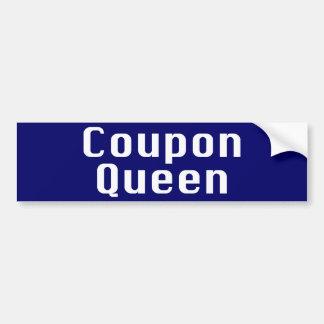 Regalos de la reina de la cupón pegatina de parachoque