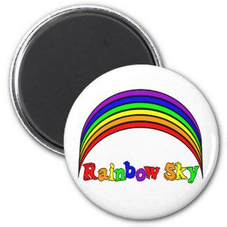 Regalos de la ropa y del arco iris del cielo del a imán redondo 5 cm