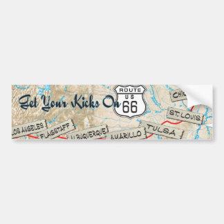 regalos de la ruta 66 etiqueta de parachoque