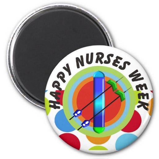 Regalos de la semana de las enfermeras imán redondo 5 cm