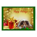 Regalos de la tarjeta de Navidad de Sheltie