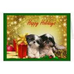 Regalos de la tarjeta de Navidad de Shih Tzu